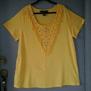 XL women's tee shirt material designer top